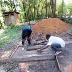 The Water Project: Muyundi Community, Ngalame Spring -  Sanitation Platform Construction