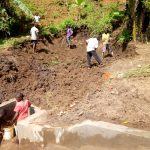 The Water Project: Ematetie Community, Weku Spring -  Spring Construction
