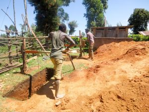 The Water Project:  Digging Latrine Pits