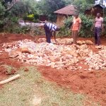 The Water Project: Eshilibo Primary School -  Tank Foundation