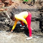 The Water Project: Burachu B Community A -  Jemmimah Khasoha Supervising Work