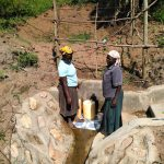 The Water Project: Ematetie Community, Weku Spring -  Finished Spring Protection