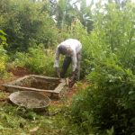 The Water Project: Matsakha Community, Siseche Spring -  Finishing The Pit For A New Latrine