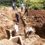 The Water Project: Handidi Community, Chisembe Spring -  Spring Construction