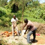 The Water Project: Luvambo Community B -  Mixing Concrete