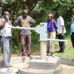 The Water Project: Kitali Community -  Pump Installation