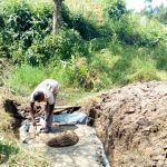 The Water Project: Luvambo Community, Timona Spring -  Building The Foundation