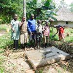 The Water Project: Muyundi Community, Ngalame Spring -  Sanitation Platform