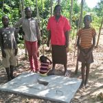 The Water Project: Emachembe Community A -  Sanitation Platform