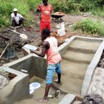 The Water Project: Burachu B Community A -  Spring Protection Construction
