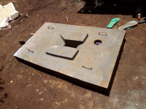 The Water Project:  Sanitation Platform For New Latrine