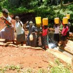 The Water Project: Shirakala Community -  Flowing Water