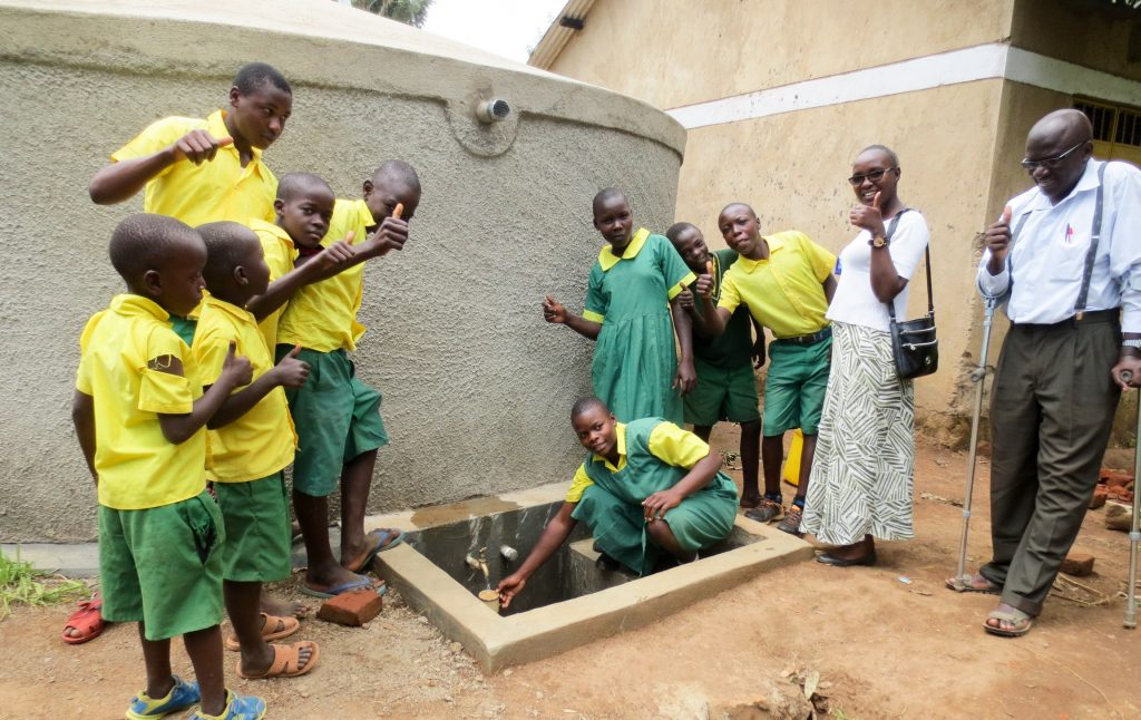 The Water Project : 26-kenya18049-finished-rainwater-tank
