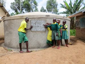 The Water Project:  Finished Rainwater Tank