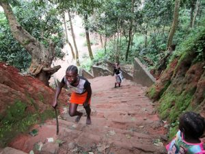 The Water Project:  Stairs Leading To The Alternative Source