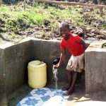 The Water Project: Burachu B Community A -  Flowing Water