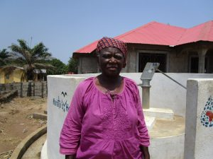The Water Project:  Pump Caretaker Haja Koroma