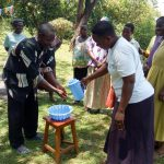 The Water Project: Emachembe Community, Hosea Spring -  Handwashing Training