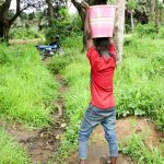The Water Project: Lungi Town, 112 Alimamy Seray Modu Road -  Carrying Water From The Swamp