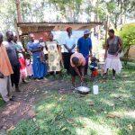 The Water Project: Muyundi Community, Ngalame Spring -  Handwashing Training