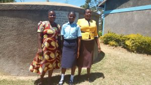 The Water Project:  Field Staff Betty Muhongo With Mary And Leah At The Tank