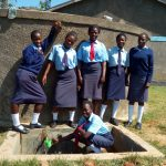 The Water Project: St. Marygoret Girls Secondary School -  Posing At The Tank