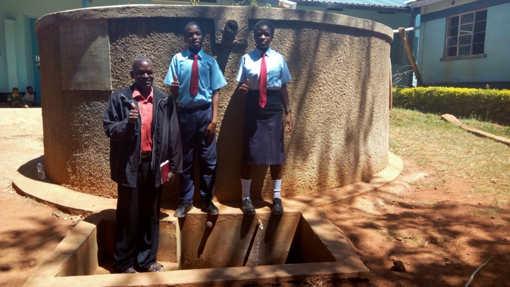 The Water Project : kenya4651-thumbs-up-for-reliable-water
