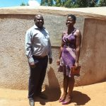 The Water Project: Walodeya Primary School -  Head Teacher Ingolo Sammy With Field Staff Jemmimah Khasoha