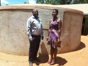 The Water Project:  Head Teacher Ingolo Sammy With Field Staff Jemmimah Khasoha