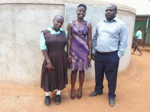 The Water Project:  Margret Khamunye Field Staff Jemmimah Khasoha And Ingolo Sammy
