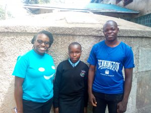 The Water Project:  Ivy Kagea And Enock Musalia At The Water Point