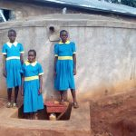 The Water Project: Ematsuli Primary School -  Winfred Mudesia And Friends At The Tank