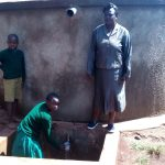 The Water Project: Ebukanga Primary School -  Magret Afywande Fetching Water