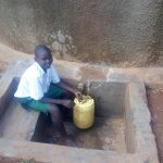 The Water Project: Emurembe Primary School -  Collecting Water