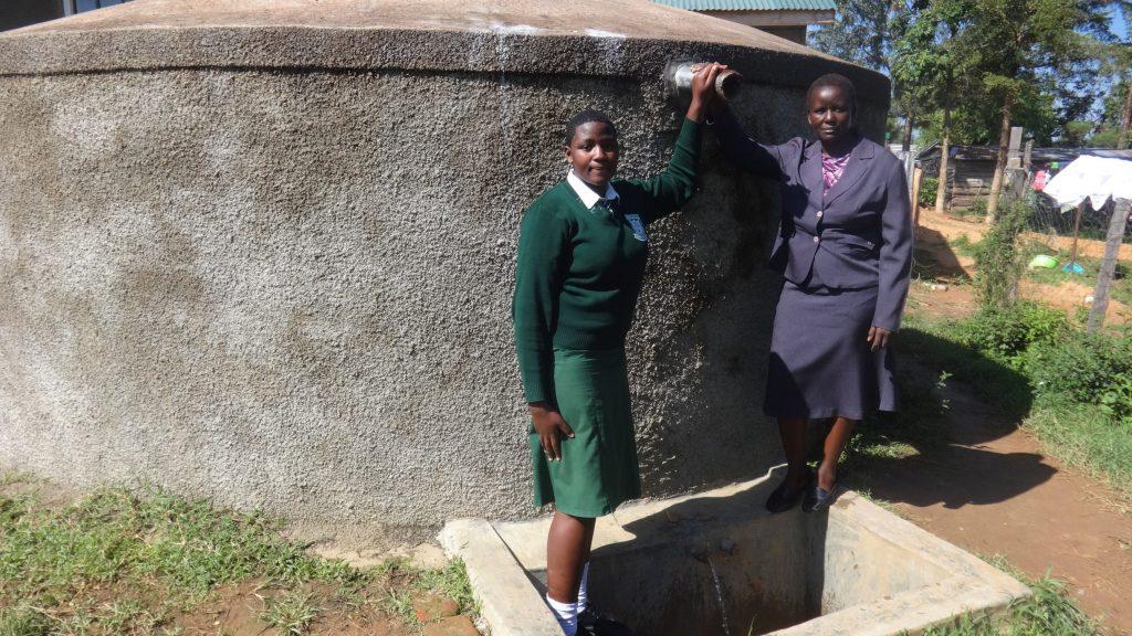 The Water Project : kenya4669-maureen-lumula-and-principal-esther-abel
