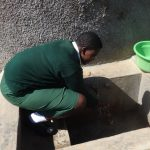 The Water Project: Ibinzo Girls Secondary School -  Maureen Lumula Fetches Water