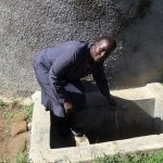 The Water Project: Ibinzo Girls Secondary School -  Principal Esther Abel At The Tank