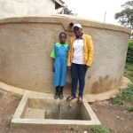 The Water Project: Musunji Primary School -  Field Officer Janet Kayi And Prudence Mbone