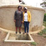 The Water Project: Musunji Primary School -  Margaret Aduvukha And Field Officer Janet Kayi