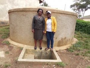 The Water Project:  Margaret Aduvukha And Field Officer Janet Kayi