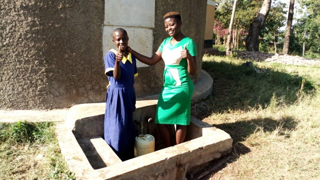 The Water Project : kenya4691-emma-ayesa-and-field-officer-jemmimah-khasoha