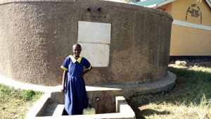 The Water Project:  Emma Ayesa At The Tank