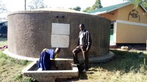 The Water Project:  Emma Ayesa Fetches Water