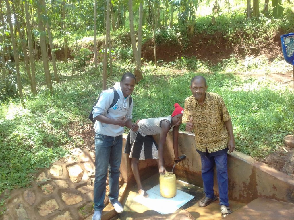 The Water Project : kenya4723-thumbs-up-for-reliable-water