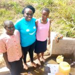 The Water Project: Tsivaka Community, Wefwafwa Spring -  Leah Joshua Field Officer Christine Luvandwa And Milldred Lumbasi