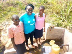 The Water Project:  Leah Joshua Field Officer Christine Luvandwa And Milldred Lumbasi