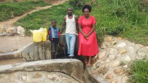 The Water Project:  Eugine Amala Enock Amala And Field Officer Karen Maruti