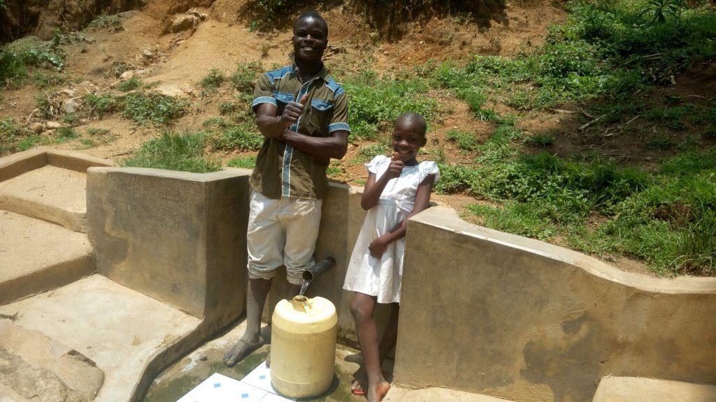The Water Project : kenya4734-purity-khavai-and-boniface-shikuku