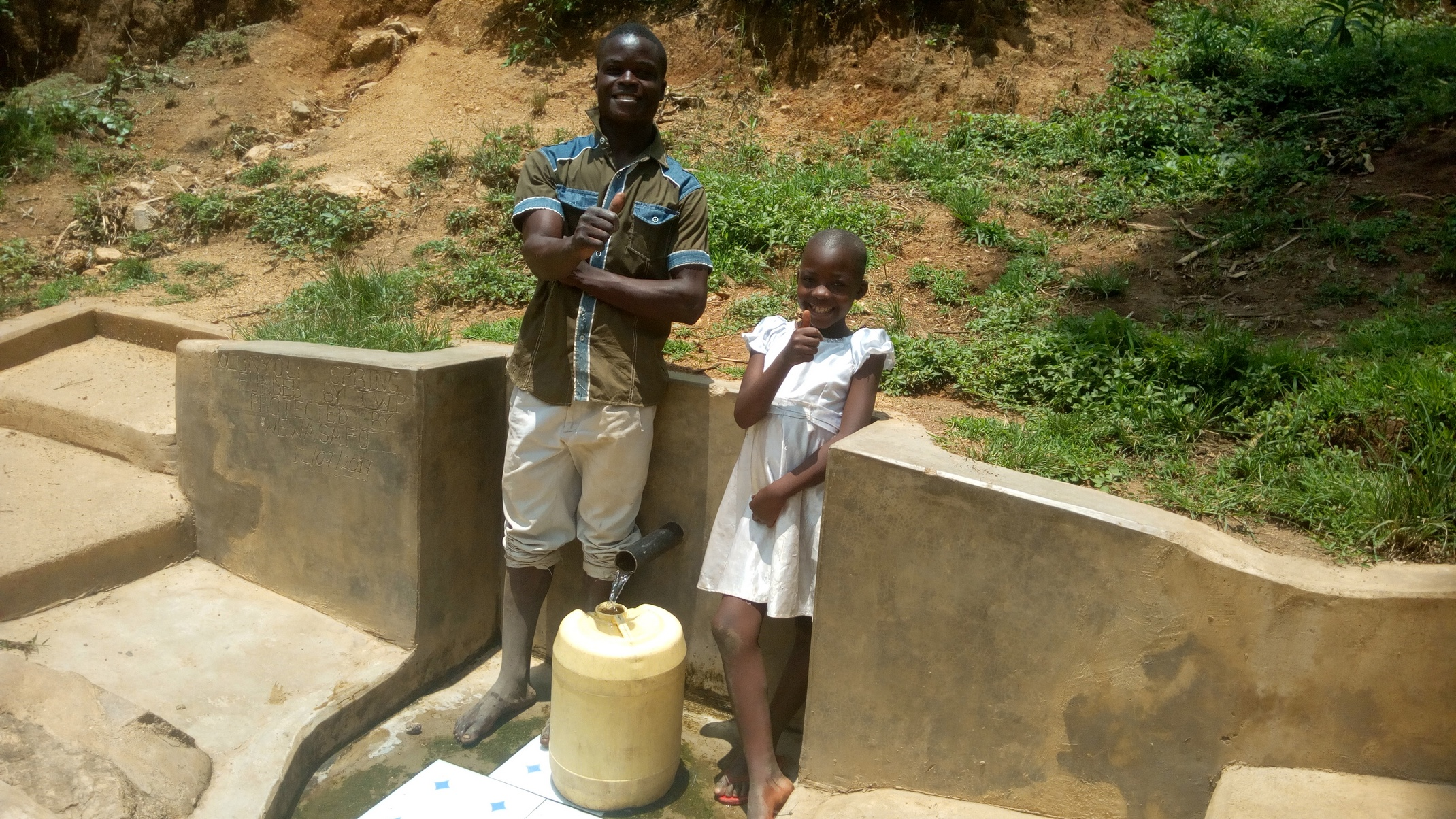 The Water Project : kenya4734-purity-khavai-and-boniface-shikuku