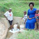 The Water Project: Bushevo Community -  Moses Enani And His Family At The Spring